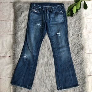 Diesel Slightly Destroyed Rame Boot Cut Jeans 28